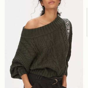 NWT Anthropologie Melissa Cable-Knit Sweater Small